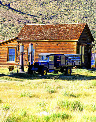 Photograph - Bodie Petrol Station by Joseph Coulombe