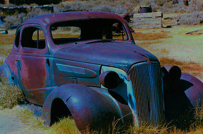 Ghost Town Digital Art - Bodie Plymouth by Barbara Snyder