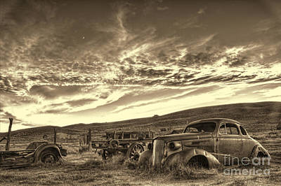 Photograph - Bodie Vintage Autos by Crystal Nederman