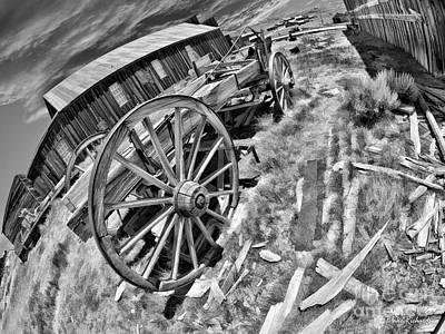 Photograph - Bodie Wagon Black Annd White by Blake Richards