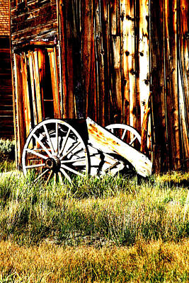 Photograph - Bodie Wheel by Joseph Coulombe