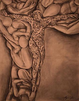 Alyssa Drawing - Body Fractal by Alyssa Kerr
