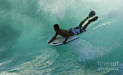 Laird Hamilton Photograph - Body Surfer by Bob Christopher