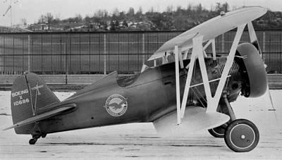 Boeing 100-f  P-12 Prototype Art Print by Hank Clark