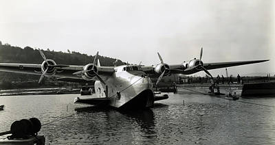 Spruce Goose Photograph - Boeing 314 Yankee Clipper C. 1945 by Daniel Hagerman