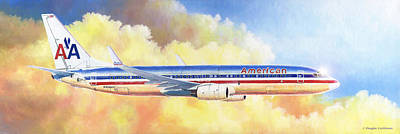 Painting - Boeing 737 by Douglas Castleman