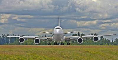 Art Print featuring the photograph Boeing 747-800 by Jeff Cook