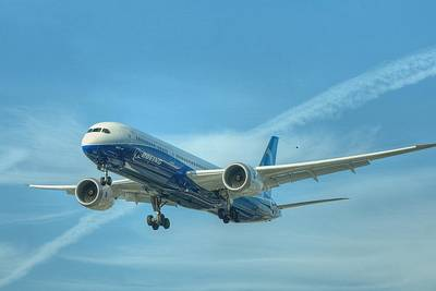 Art Print featuring the photograph Boeing 787-9 by Jeff Cook