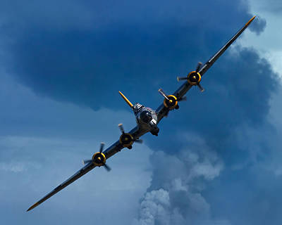 Airshow Flight Photograph - Boeing B-17 Flying Fortress by Adam Romanowicz