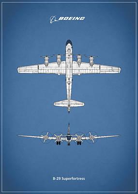 Plane Photograph - Boeing B-29 by Mark Rogan