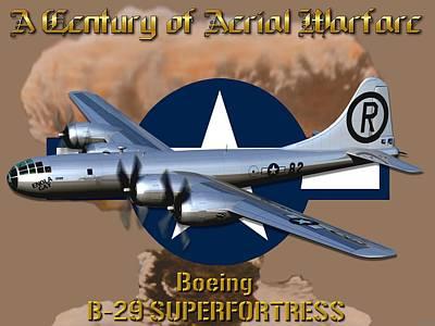 B29 Digital Art - Boeing B-29 Superfortress by Mil Merchant