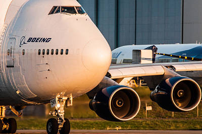 Aviation Photograph - Boeing Dreamlifter 747 by Puget  Exposure