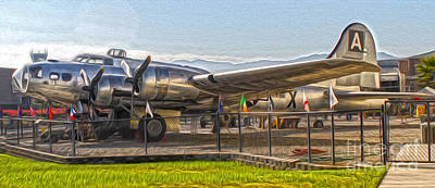 Painting - Boeing Flying Fortress B-17g  -  05 by Gregory Dyer