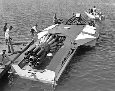 Boeing Jet Powered Speed Boat Art Print