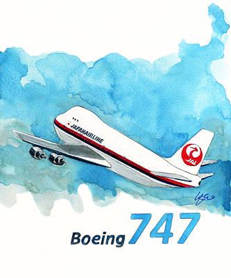 Boeing 747 Jumbo Print by Yoshiharu Miyakawa