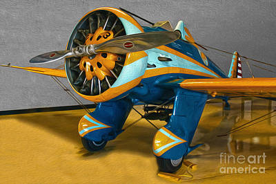 Painting - Boeing Peashooter P-26a  -  02 by Gregory Dyer