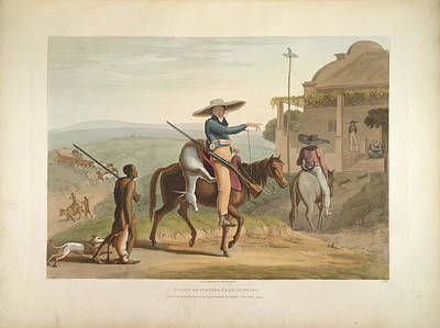 Boers Returning From Hunting Art Print by British Library