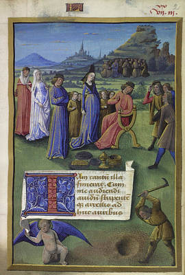 Digging Photograph - Boethius And Philosophy by British Library