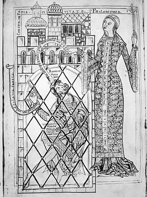 Boethius Painting - Boethius (c480-c524) by Granger
