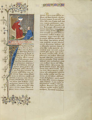 1420 Painting - Boethius Instructs A Young Boy In Arithmetic Virgil Master by Litz Collection