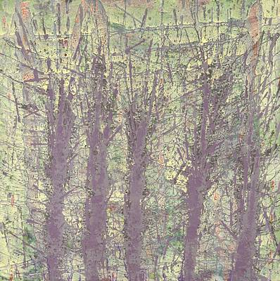 Bog Forms Through Fog  Art Print by Martin DeWitt