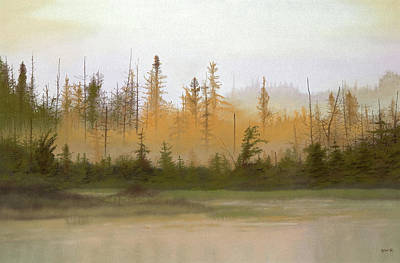 Pastel - Bog Out Back by Bruce Richardson