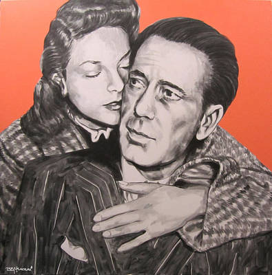 Lauren Bacall Painting - Bogart And Bacall by Bruce McLachlan