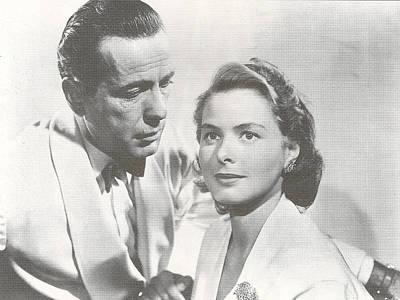Bogart And Bergman Print by Georgia Fowler