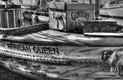 Photograph - Bogart's Boat Bw by Mel Steinhauer