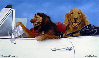 Bogey And Travis... Art Print by Will Bullas