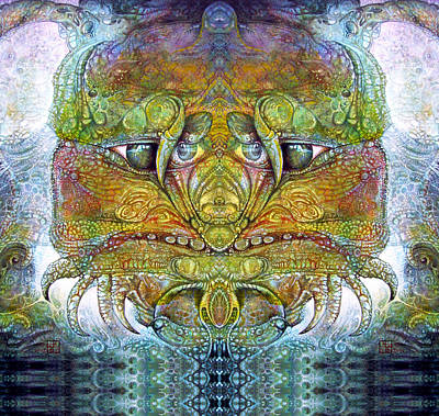 Print featuring the digital art Bogomil Variation 11 by Otto Rapp