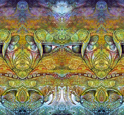 Print featuring the digital art Bogomil Variation 12 by Otto Rapp
