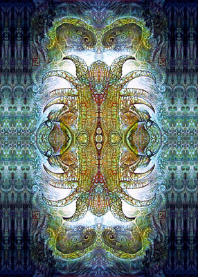 Print featuring the digital art Bogomil Variation 14 - Otto Rapp And Michael Wolik by Otto Rapp