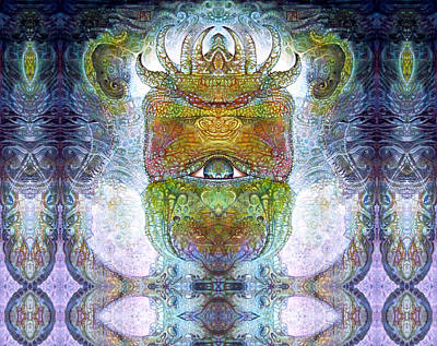 Print featuring the digital art Bogomil Variation 15 by Otto Rapp