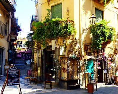 Photograph - Bohemian Corner In Taormina by Carla Parris