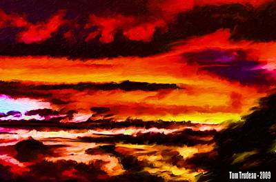Mixed Media Royalty Free Images - Bohemian Sunset  Royalty-Free Image by Tommi Trudeau