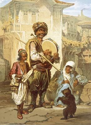 Turkey Drawing - Bohemians, 1865 by Amadeo Preziosi