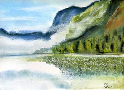 Painting - Bohinj Lake. Slovenia by Lelia Sorokina