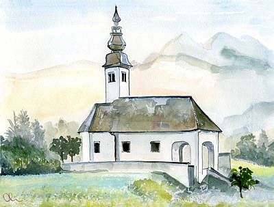 Painting - Bohinjska Bistrica by Lelia Sorokina