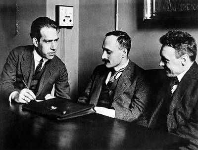 Atom Photograph - Bohr by Aip Emilio Segre Visual Archives, Margrethe Bohr Collection, Fermi Film Collection