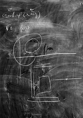Bohr's Last Blackboard Drawing Art Print