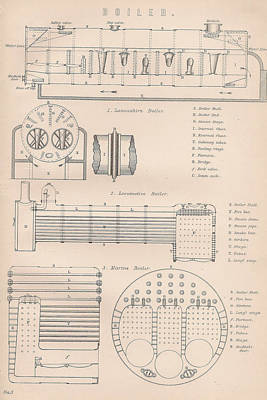 Boiler Drawing - Boiler Drawing And Diagrams by Anon