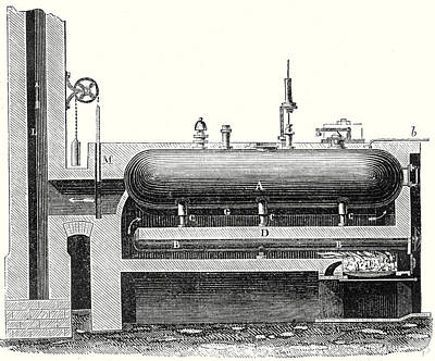 Boiler Drawing - Boiler Placed On The Fire by English School