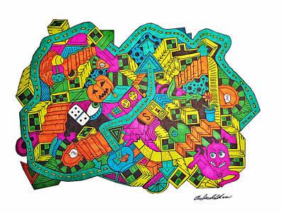 Pathways Drawing - Boing by Chelsea Geldean