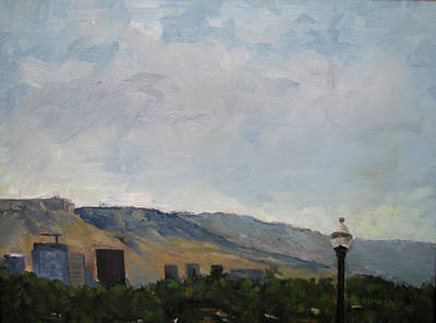 Painting - Boise Downtown Skyline by Les Herman
