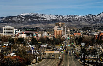 Boise Idaho Art Print by Robert Bales