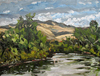 Painting - Boise River At Barber Park by Les Herman
