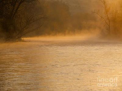 Fog Rising Photograph - Boise River Sunrise by Vishwanath Bhat