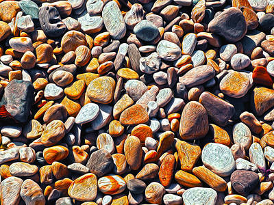 Cabochon Photograph - Boisterous Beach Stones by Joe Schofield
