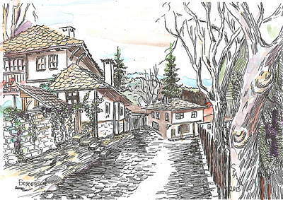 House Mixed Media - Bojentsi- Older Houses by Ania Kaka